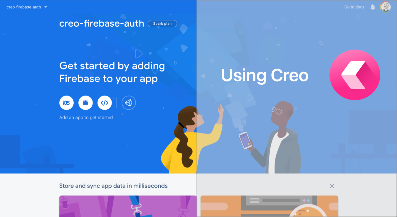 📽 How to Authenticate Your App to Firebase Using Creo (video)